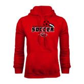 Red Fleece Hoodie-Red Lions Soccer Swoosh