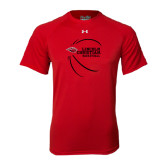 Under Armour Red Tech Tee-Lincoln Christian Basketball w/ Contour Lines