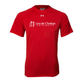 Under Armour Red Tech Tee-University Logo - Flat