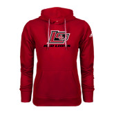 Adidas Climawarm Red Team Issue Hoodie-Red Lions Logo