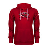 Adidas Climawarm Red Team Issue Hoodie-Red Lions Stacked