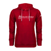 Adidas Climawarm Red Team Issue Hoodie-University Logo - Flat