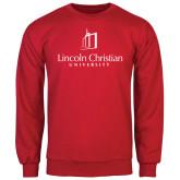 Red Fleece Crew-University Logo