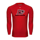 Under Armour Red Long Sleeve Tech Tee-Red Lions Logo