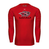 Under Armour Red Long Sleeve Tech Tee-Combination Mark