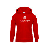Youth Red Fleece Hoodie-University Logo