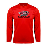 Syntrel Performance Red Longsleeve Shirt-Combination Mark