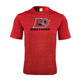 Performance Red Heather Contender Tee-Red Lions Logo