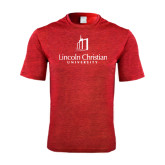 Performance Red Heather Contender Tee-University Logo