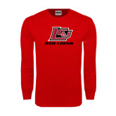 Red Long Sleeve T Shirt-Red Lions Logo
