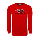 Red Long Sleeve T Shirt-Red Lions Stacked