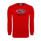 Red Long Sleeve T Shirt-Combination Mark