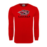 Red Long Sleeve T Shirt-Combination Mark Distressed