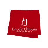 Red Sweatshirt Blanket-University Logo