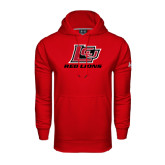 Under Armour Red Performance Sweats Team Hoodie-Red Lions Logo