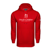 Under Armour Red Performance Sweats Team Hoodie-University Logo