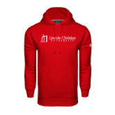 Under Armour Red Performance Sweats Team Hoodie-University Logo - Flat