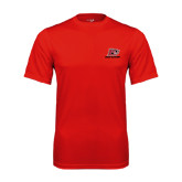 Performance Red Tee-Red Lions Logo