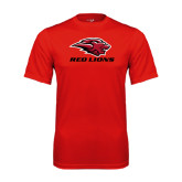 Performance Red Tee-Red Lions Stacked