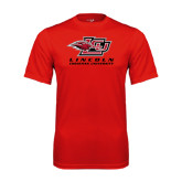 Performance Red Tee-Combination Mark