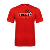 Performance Red Tee-Red Lions Soccer Swoosh