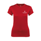 Ladies Syntrel Performance Red Tee-University Logo