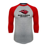 Grey/Red Raglan Baseball T-Shirt-Grandpa
