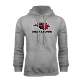 Grey Fleece Hoodie-Red Lions Stacked