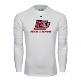 Under Armour White Long Sleeve Tech Tee-Red Lions Logo