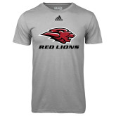 Adidas Climalite Sport Grey Ultimate Performance Tee-Red Lions Stacked