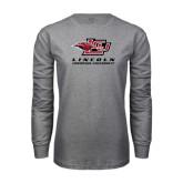Grey Long Sleeve T Shirt-Combination Mark