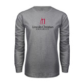 Grey Long Sleeve T Shirt-University Logo