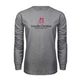 Grey Long Sleeve T Shirt-University Logo