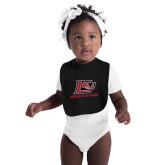 Black Baby Bib-Red Lions Logo