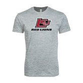 Next Level SoftStyle Heather Grey T Shirt-Red Lions Logo