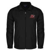 Full Zip Black Wind Jacket-Red Lions Logo