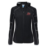Columbia Ladies Sweet As Black Hooded Jacket-Red Lions Logo