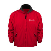 Red Survivor Jacket-University Logo - Flat