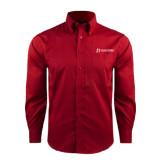 Red House Red Long Sleeve Shirt-University Logo - Flat