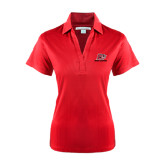 Ladies Red Performance Fine Jacquard Polo-Red Lions Logo