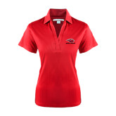 Ladies Red Performance Fine Jacquard Polo-Red Lions Stacked