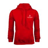 Red Fleece Hood-University Logo