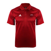 Adidas Climalite Red Jaquard Select Polo-Red Lions Stacked