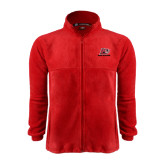 Fleece Full Zip Red Jacket-Red Lions Logo