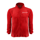 Fleece Full Zip Red Jacket-University Logo - Flat