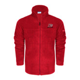 Columbia Full Zip Red Fleece Jacket-Red Lions Logo