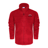 Columbia Full Zip Red Fleece Jacket-Red Lions Stacked