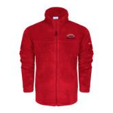 Columbia Full Zip Red Fleece Jacket-Red Lions Stacked