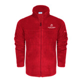 Columbia Full Zip Red Fleece Jacket-University Logo