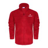 Columbia Full Zip Red Fleece Jacket-University Logo